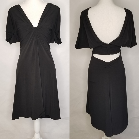 Moda International Dresses & Skirts - Moda International Black Dress Open Back SZ Large